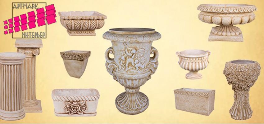 Обновился ассортимент садовых ваз и подставок из шамотной глины